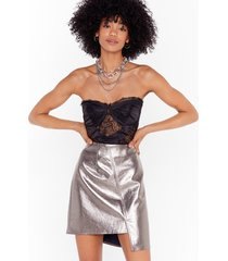 best things take shine asymmetric mini skirt