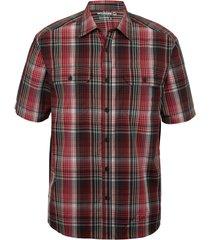 wolverine men's axel short sleeve shirt dark red plaid, size xxl