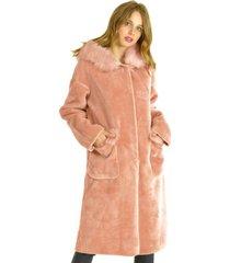 abrigo largo rosa bous