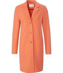 lange jas in recht model met reverskraag van oui oranje