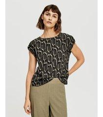 opus blouse met print felga ethno