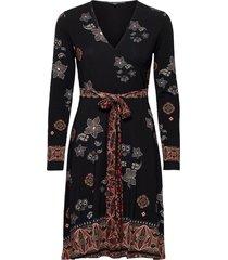vest singapur knälång klänning svart desigual