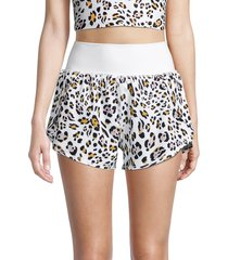 kensie women's leopard-print tulip shorts - size m