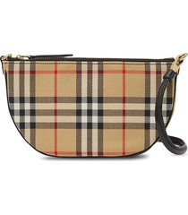 burberry vintage-check olympia pouch - brown