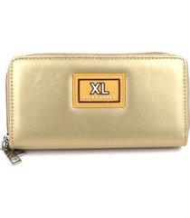 billetera dorado xl extra large indias