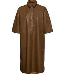 indie dress jurk knielengte bruin second female