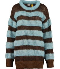 moncler striped mohair sweater