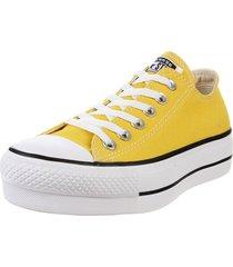 zapatilla amarilla converse chuck taylor all star lift sea