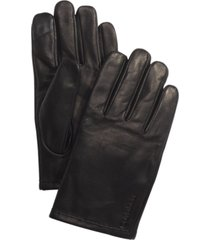 calvin klein men's leather touch-screen gloves