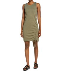 women's laila ali ruched tie tank dress, size x-large - green