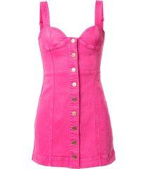 alice mccall mystical moments bustier denim mini dress - pink