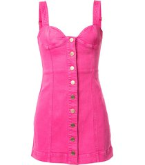 alice mccall mystical moments bustier denim mini dress - pink