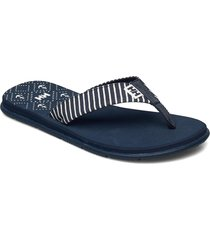 w iris sandal shoes summer shoes flip flops blå helly hansen