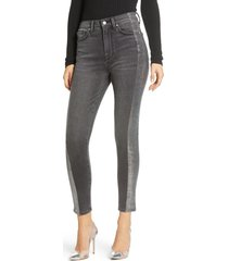 women's 7 for all mankind metallic side stripe high waist ankle skinny jeans