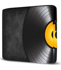 capa para notebook disco vinil 15 polegadas - preto - dafiti