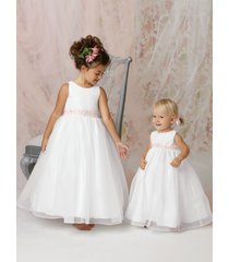 beaded sash party princess bridesmaid wedding dance pageant flower girl dresses