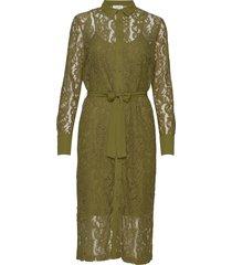 dress ls knälång klänning grön rosemunde