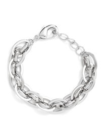 nordstrom woven chain link bracelet in rhodium at nordstrom