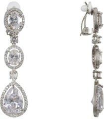 nina cubic zirconia clip-on earrings