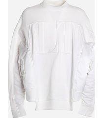 valentino oversized sweatshirt with asymmetrical hem and embossed vltn logo