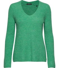 pullover, longsleeve, feminine v-ne stickad tröja grön marc o'polo