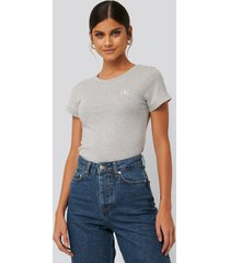 calvin klein embroidery slim tee - grey