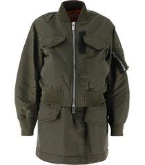 sacai nylon twill bomber jacket