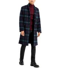 inc men's finn plaid overcoat, created for macy's