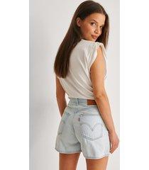 levi's shorts med hög midja - blue