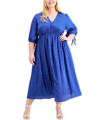 taylor plus size v-neck maxi dress