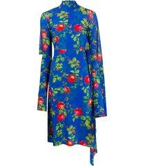 opened back floral dress