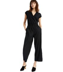 alfani faux-wrap jumpsuit, created for macy's