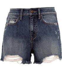 rewash juniors' distressed high rise denim shorts
