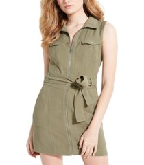 guess aja belted cargo mini dress