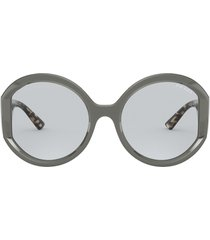 prada prada pr 22xs light blue sunglasses