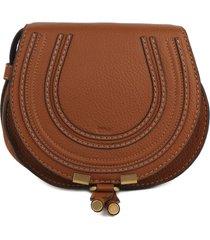 chloé marcie leather shoulder bag