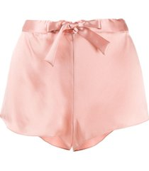 gilda & pearl sophia satin shorts - pink