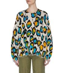 leopard print oversized sweater