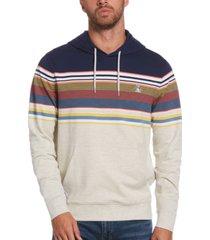 original penguin men's slim-fit colorblocked stripe hoodie