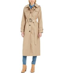 london fog hooded water-repellent trench coat, created for macy's