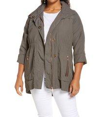 adyson parker full zip jacket, size 1x in steel grey at nordstrom