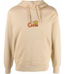 clottee sun logo-embroidered hoodie