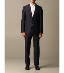 emporio armani suit emporio armani single-breasted suit in pinstripe wool 240 gr drop