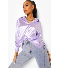 oversized satijnen pastel blouse, lilac