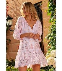 melissa odabash ashley dress blush