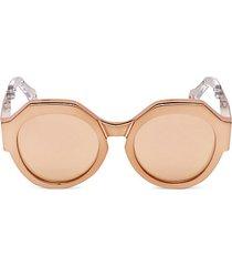 bronze round sunglasses/56mm