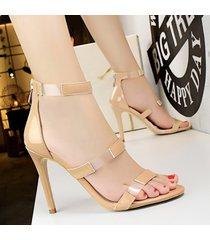 nueva sandalias de tacón cuadrado para mujer boca sandalias mujer