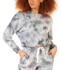 black tape petite tie-dyed pullover top