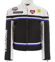 versace nylon biker jacket