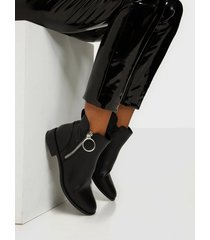 only onlbobby-22 pu zip boot flat boots